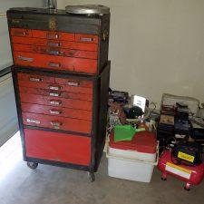 Arizona-Total-Home-Restoration-Asbestos-Abatement Tool-Chest-in-Garage