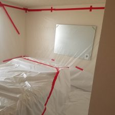 Arizona-Total-Home-Restoration-Mesa-AZ-Popcorn-Ceiling-Removal-Bedroom-Walls-Covered-with-Plastic