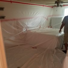 Popcorn-Ceiling-Removal-Phoenix-AZ-Bedroom-Containment-Arizona-Total-Home-Restoration