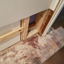Toilet Leak Phoenix, AZ, after demo, wood,cupping