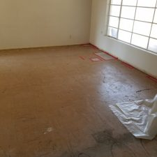 Asbestos Flooring Removal, Before Picture, Scottsdale AZ Living Room