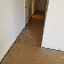 Asbestos VCT 9x9 Tile Removal, Scottsdale AZ, Hallway, Before Pic