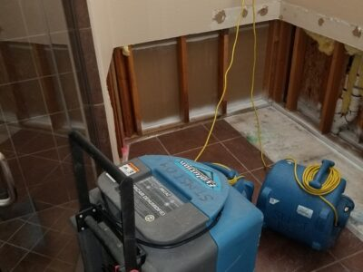 Drying Out a Bathroom with Water Damage and Mold - Phoenix AZ