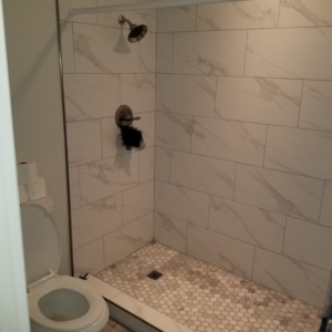 After Flood Damage Repair, Bathroom Shower, Mesa AZ