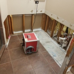 After Mold Remediation, Air Scrubber, No Mold, Scottsdale Bathroom