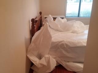 Arizona-Total-Home-Restoration-Mesa-AZ-Popcorn-Ceiling-Removal-Before-Preparation-Covering-Furniture