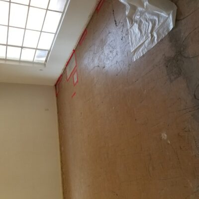 CONTAINMENT: VCT Black Mastic Asbestos Abatement in Living Room - Scottsdale, AZ