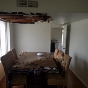 Ceiling Collapse, Pipe Brake, Mesa AZ, Dining Room