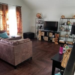 Complete Living Room Rebuild, Flood Damage, Mesa Arizona,