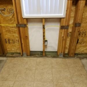 Demo-of-Kitchen-After-Black-Water-Sewage-Backup-Water-Damage-Restoration-Chandler-AZ