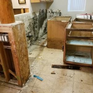 Demolition-Begins-in-Kitchen-After-Sewage-Backup-Flooded-Home-Water-Damage-Restoration-Chandler-AZ