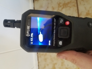 BEFORE: Our FLIR Infrared Camera Provides Thermal Imaging that Identifies and Quantifies Moisture for Water Damage Restoration - Chandler, AZ