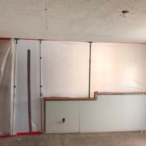 Kitchen Counter, Containment, Popcorn Ceiling Scrape, Tempe AZ