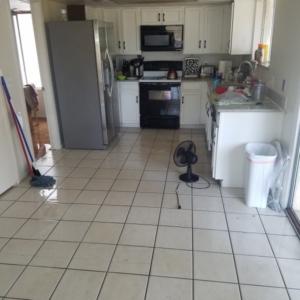 Kitchen Flood, Toilet Supply Line Rupture, Mesa AZ