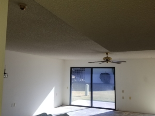 BEFORE: Popcorn Ceiling Removal in Living Room - Mesa, AZ