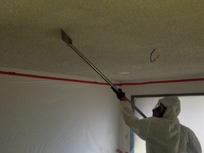 Popcorn Ceiling Abatement Mesa, AZ - Removal Process - Arizona Total Home Restoration