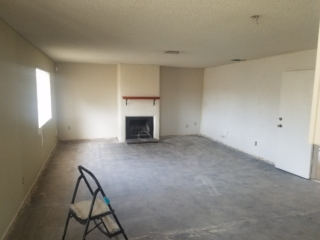 BEFORE: Popcorn Ceiling Removal in Family Room - Mesa, AZ