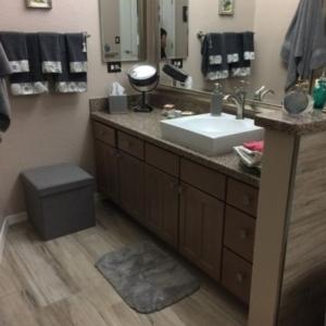 Scottsdale AZ condo, Bathroom vanity rebuild, water loss