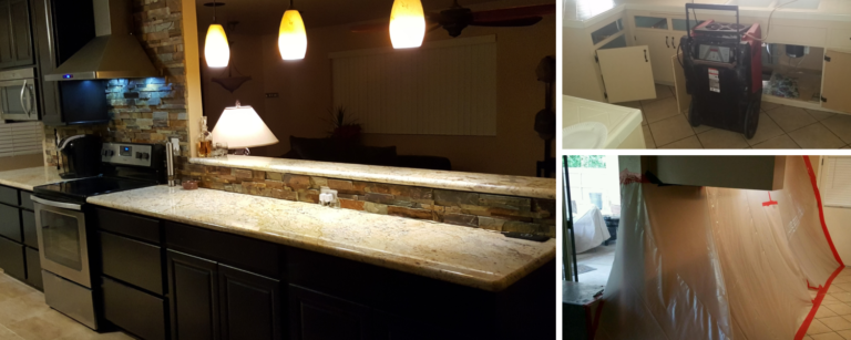 San Tan Valley AZ Kitchen Plumbing Leak - Water Damage, Mold Remediation, Remodel - ATH 1500x600