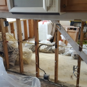 View-from-Kitchen-into-Master-Bedroom-as-Demo-Begins-Water-Damage-Restoration-Chandler-AZ