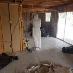 Whole House Flood, Mesa Arizona, PPE Gear, Demo