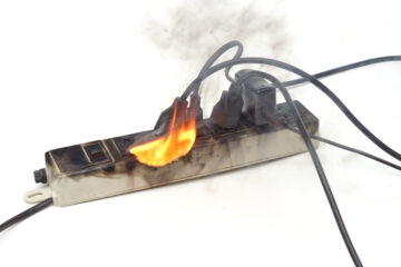 Electrical Fire - Overloaded Power Strip - Fire Damage Restoration Near Mesa - AZ Total Home