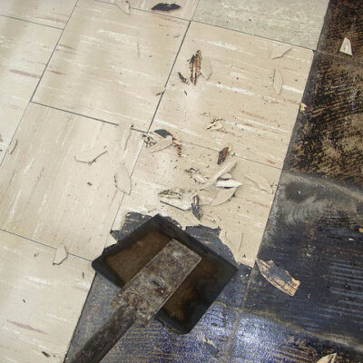 Asbestos Vinyl Composite Tile Flooring - Do Not Remove on Your Own - Phoenix AZ - AZ Total Home