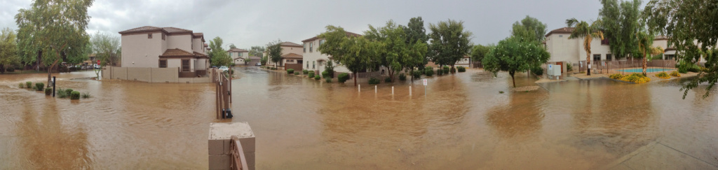 Storm Damage and Flooding in a Phoenix Neighborhood 1024